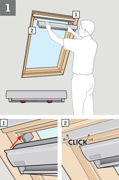Velux Windows Installation >> How to fit a blind to a VELUX Window