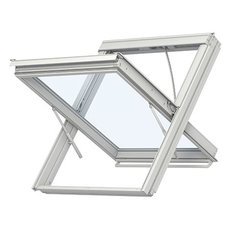 White polyurethane smoke vent window