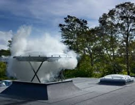 Velux flat roof opaque smoke ventilation